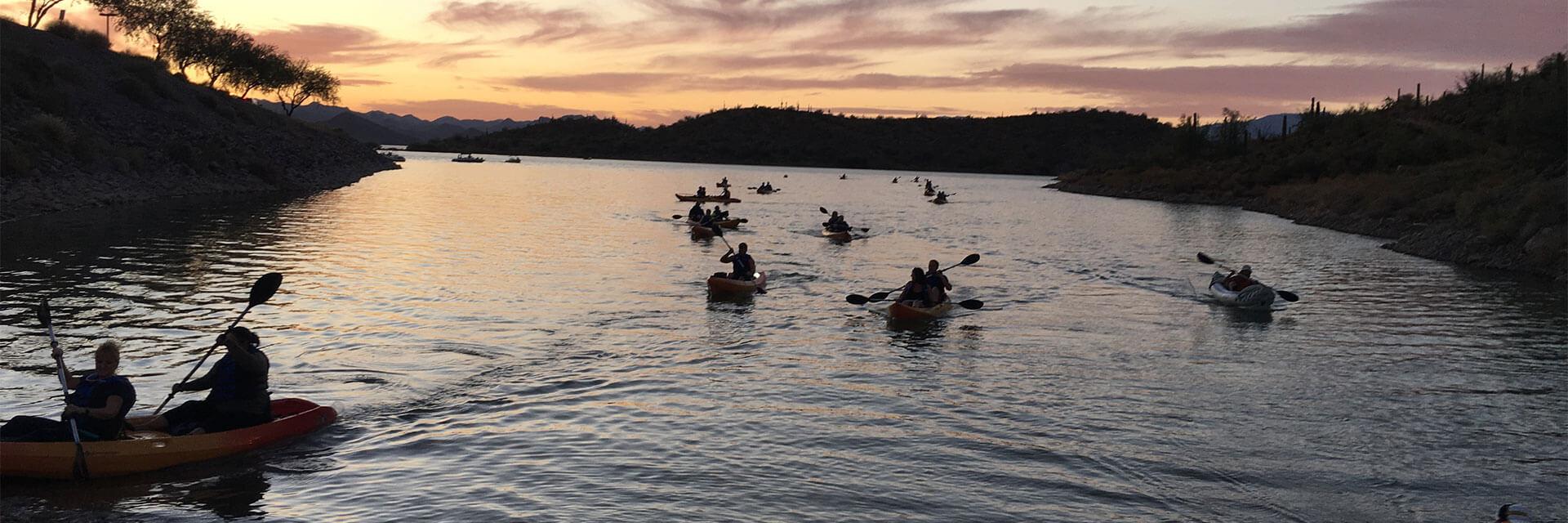 Kayaking on Lake Pleasant with Go Paddle AZ