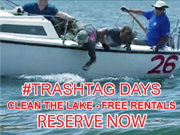 #TrashTag Days - Clean the lake - Free rentals - Reserve now!